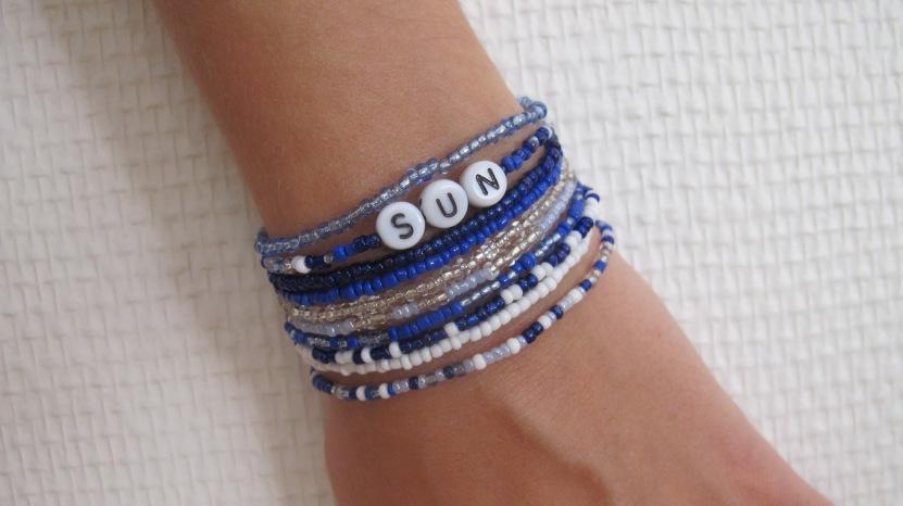 diy 1 bracelets en perles de rocaille les ballerines de justine. Black Bedroom Furniture Sets. Home Design Ideas
